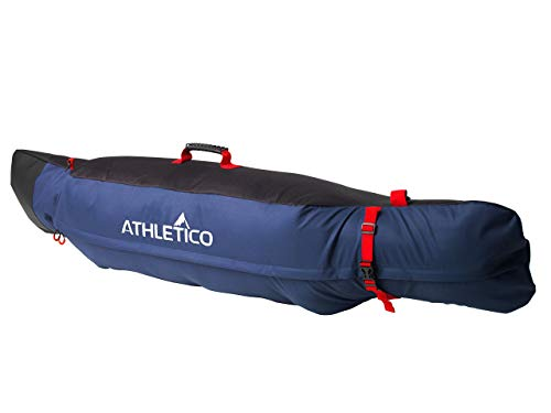 Athletico Freestyle Padded Snowboard Bag - Travel Bag for Single Snowboard Up to 175cm (Black/Blue)