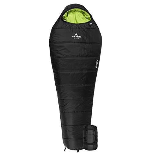 TETON Sports LEEF Lightweight Adult Mummy Sleeping Bag; Great for Hiking, Backpacking and Camping; Free...