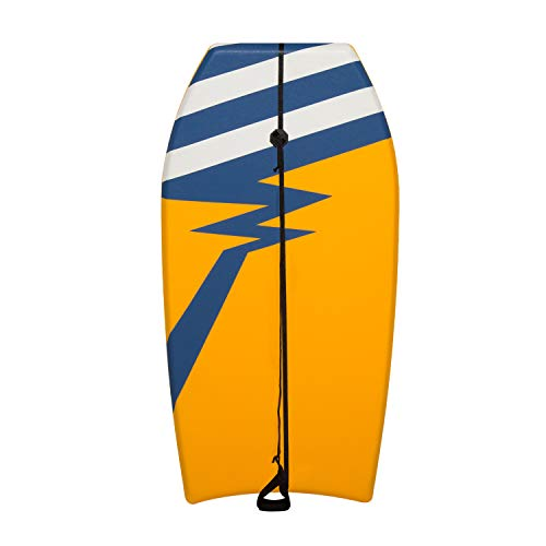 Kinbor Bodyboard 37 inch for Beach with Wrist Leash, Lightweight Surfboard for Kids and Adults.