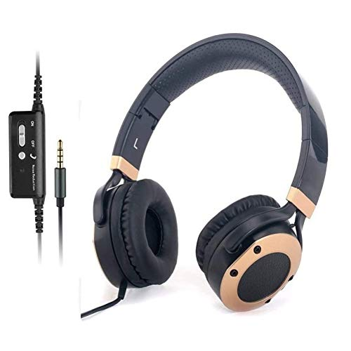 Active Noise Cancelling Headphones with Microphone and Airplane Adapter, Folding and Lightweight Travel...