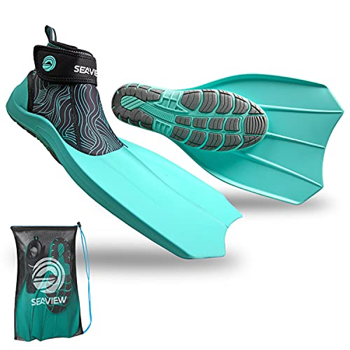 WildHorn Outfitters Seaview 180 Topside Snorkel Fins - Compact, Travel, Swim Fins for Men & Women -...
