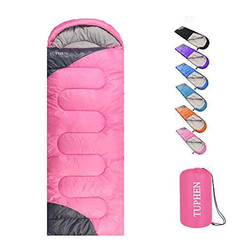 tuphen- Sleeping Bags for Adults Kids Boys Girls Backpacking Hiking Camping Microfiber Liner, Cold Warm...
