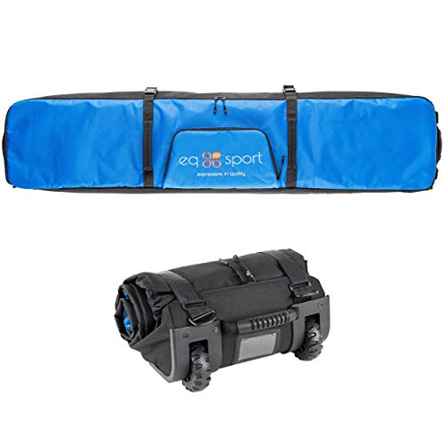 EQ SPORT Padded Snowboard Bag with Wheels for Air Travel (168), Waterproof Roller Snowboard Bag, Rollup Space...