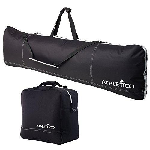 Athletico Padded Two-Piece Snowboard and Boot Bag Combo   Store & Transport Snowboard Up to 165 cm and Boots...
