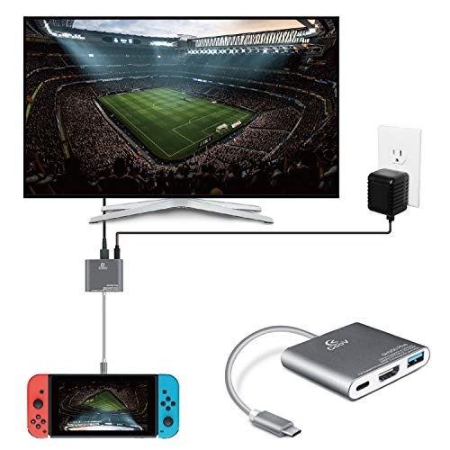 TNP Switch TV Dock Portable Adapter Hub, USB Type C to HDMI Travel Dongle Docking for Nintendo Switch,...