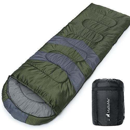 MalloMe Sleeping Bags for Adults Kids & Toddler - Camping Accessories Backpacking Gear for Cold Weather & Warm...