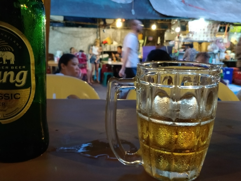 Beers at the Chiang Mai night bazaar