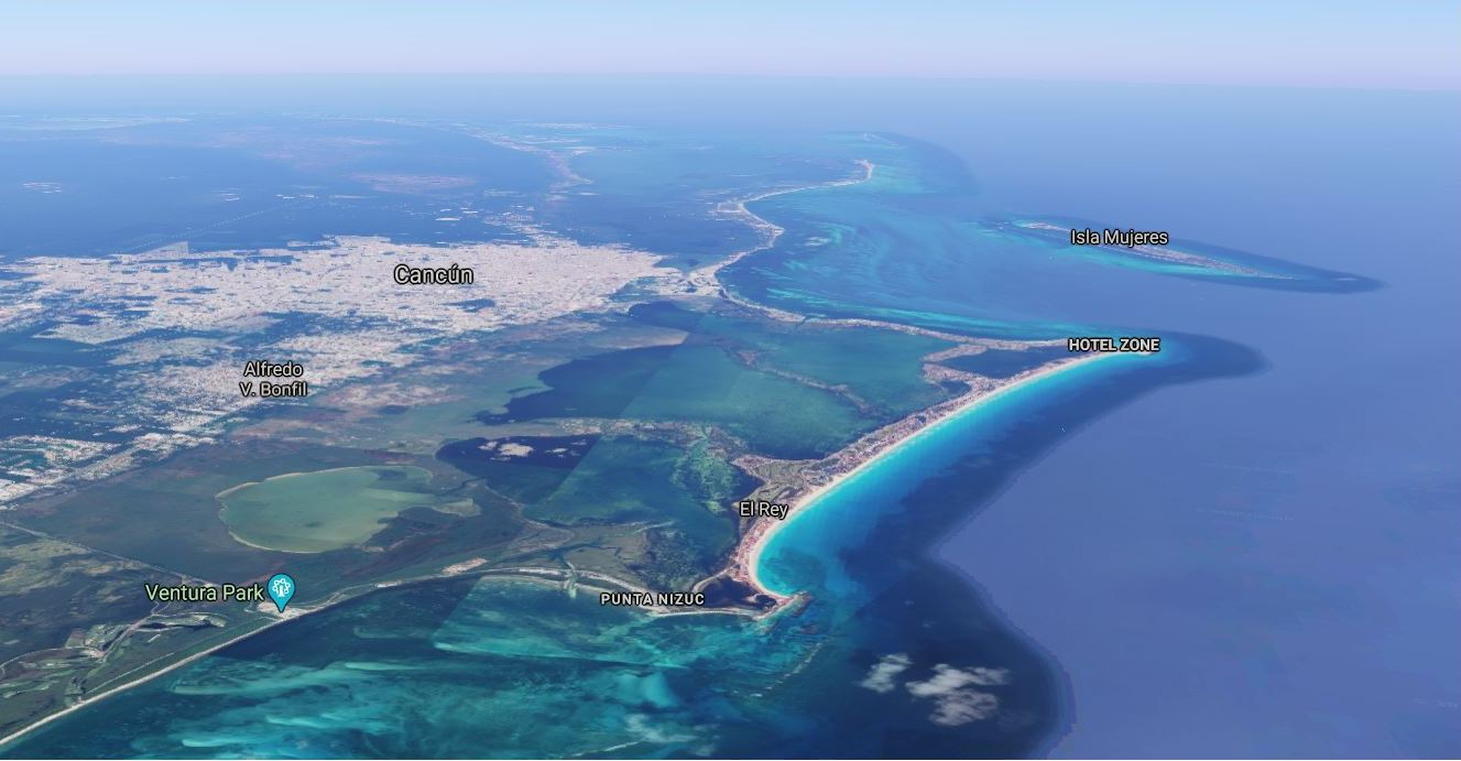 Is Cancun Expensive? A Google Earth view of Cancun