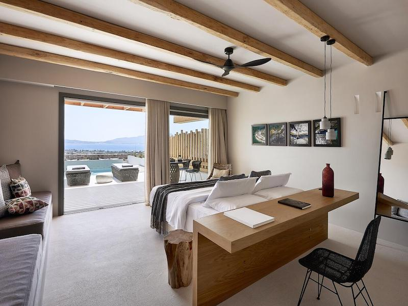 Cave Suite Milos sea view from private terrace and plunge pool