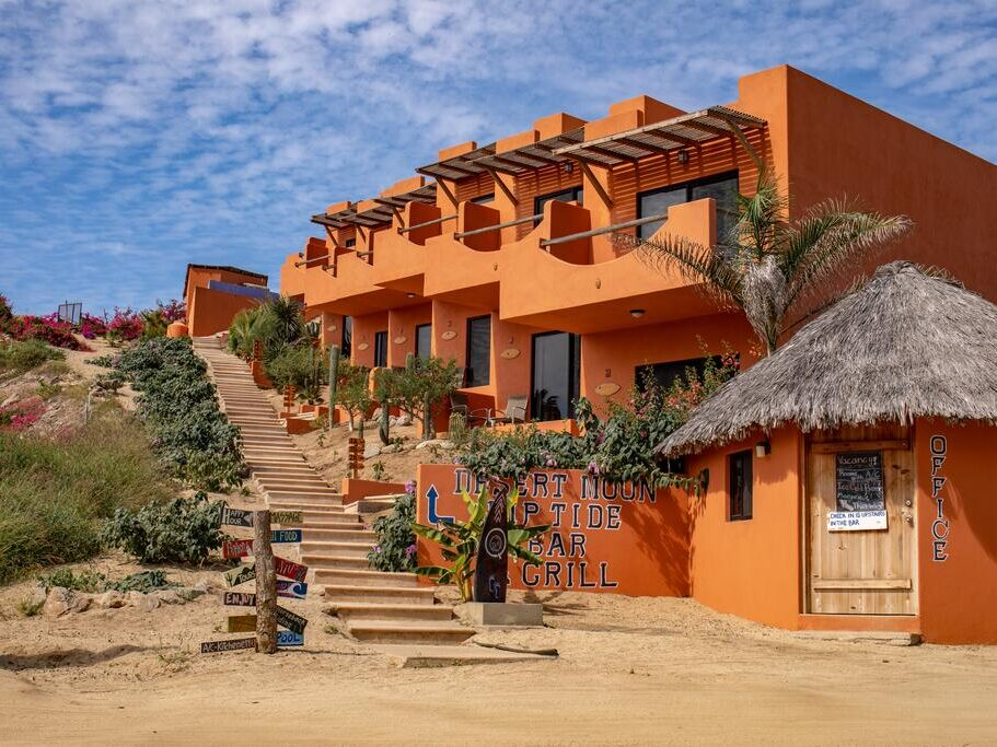 Cerritos Beach Hotel Desert Moon is one of the best surf hotels Cabo San Lucas with excellent views