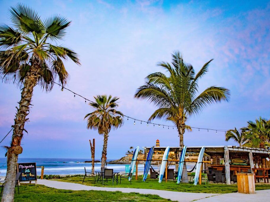 Beachfront Cerritos Surf Town is one of the best surf hotels in Cabo for direct access to waves
