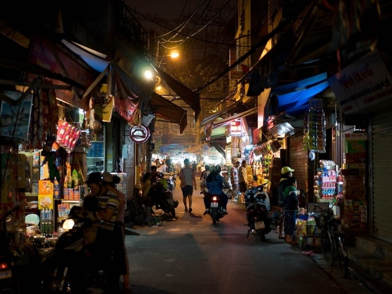 Night scene in Hanoi
