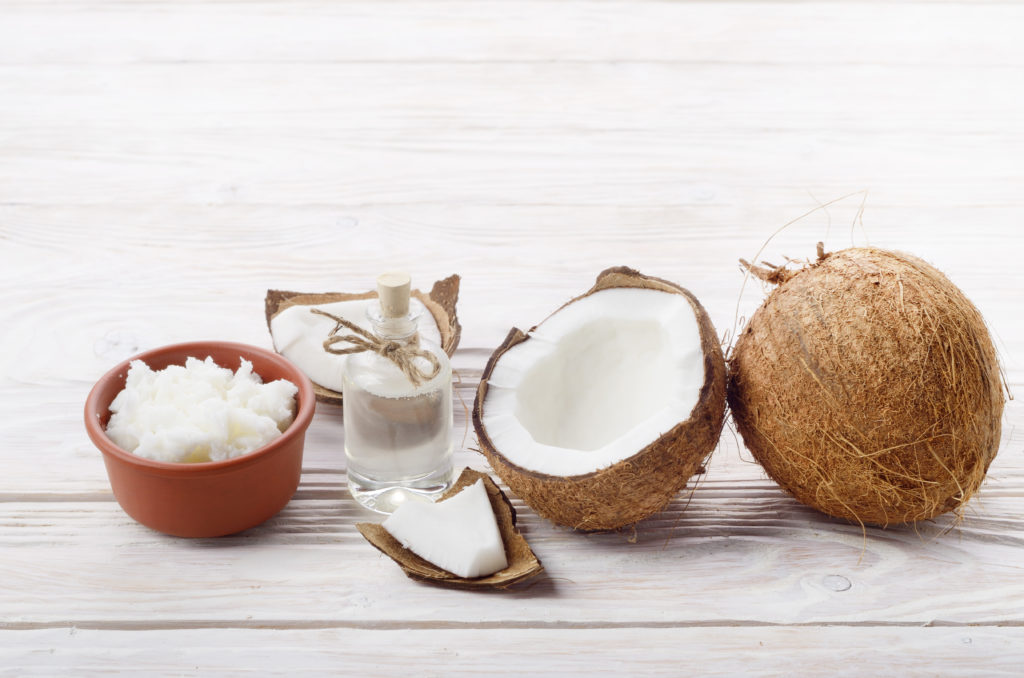 Virgin coconut oil is prepared by a small village in East Bali