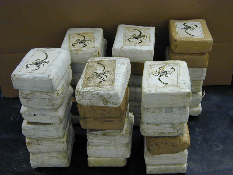Just over 900 kilos of cocaine confiscated by the DEA