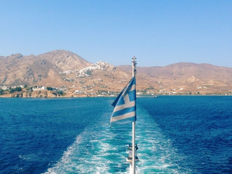 On a boat in Naxos