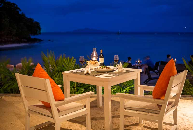Al fresco dining under the stars at The Beach House Grill and Chill
