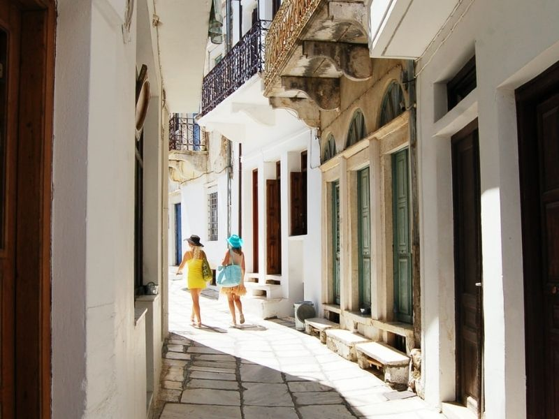 Shoppers in Naxos