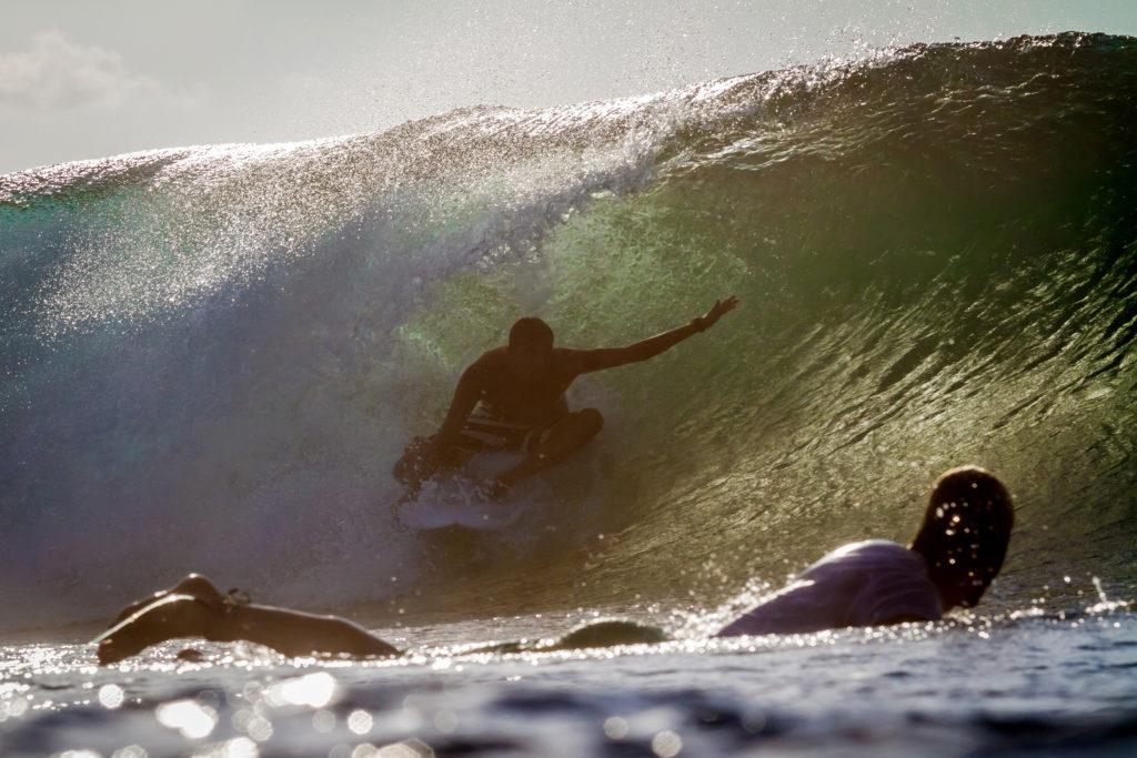 Surfers at Keramas Beach