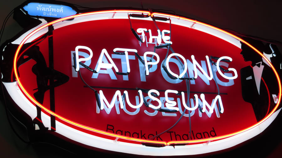 Sign for the Patpong Museum in Thailand