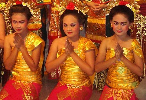 Traditional greeting in Bali