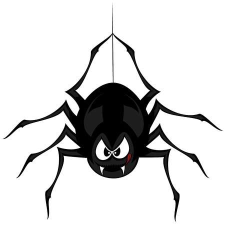 Finny angry spider cartoon