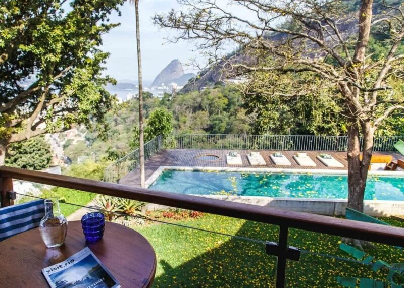 The view and pool from Chez Georges