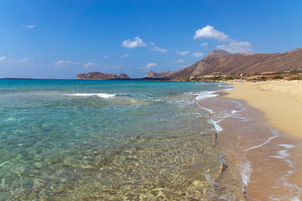 Falassarna beach in crete