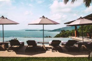 Thailand Resort sunbeds and infinity pool - where to stay in Koh Lanta