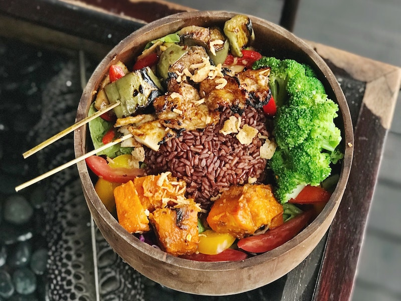 nasi campur is a key dish in balinese food culture