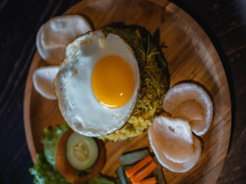 Nasi goreng is the national dish in balinese food culture