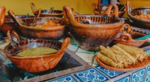 Where to stay in Oaxaca - Mexican food in hotel