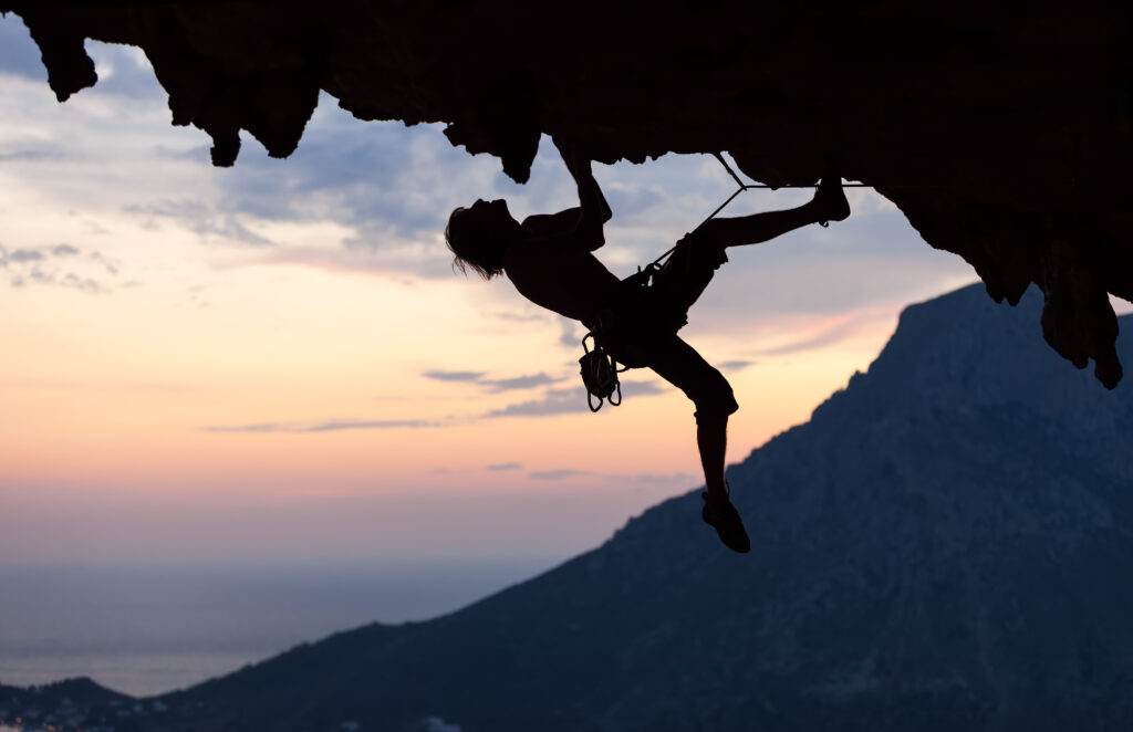rock climber in greece