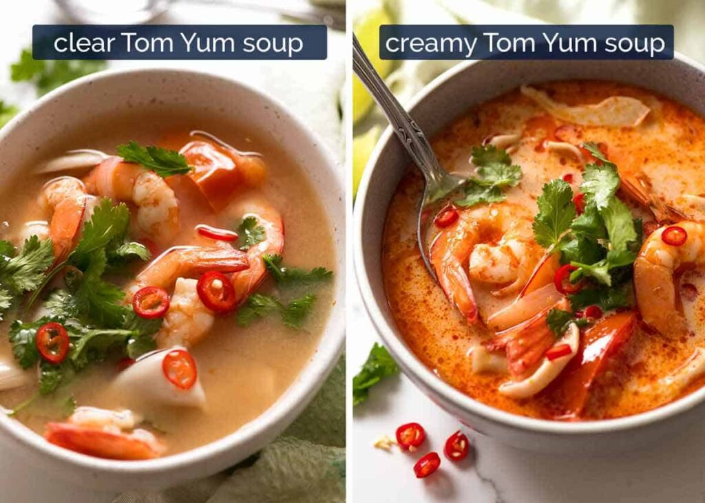 Tom Yum GoongSoup - clear and creamy